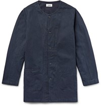 Chimala Herringbone Cotton Jacket Navy