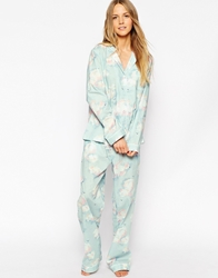 Cath Kidston Clouds Long Pj Set Cloudslightblue
