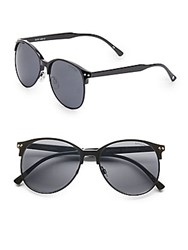 Minkpink 56Mm Oversized Round Sunglasses Black
