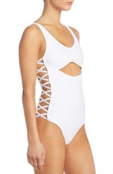 Women's Minkpink 'Dark Horse' Cutout One Piece Swimsuit