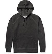 Our Legacy Overdyed Cuba Jerey Hoodie Charcoal