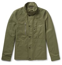 Tom Ford Cotton Blend Field Jacket Army Green