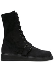 Ann Demeulemeester Laced Boots Black