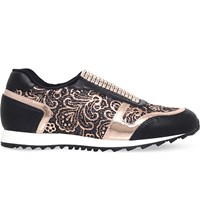 Gina Olympic Leather Trainers Black