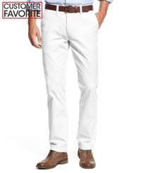Tommy Hilfiger Custom Fit Chino Pants Classic White