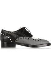 Alexander Wang Nathan Elaphe And Leather Brogues Black