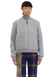 Acne Studios Azura Blanket Wool Bomber Jacket Grey
