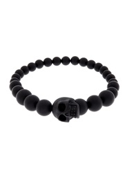 Alexander Mcqueen Resin Skull And Bead Bracelet