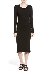Women's James Perse 'Birdseye' Double Slit Midi Dress