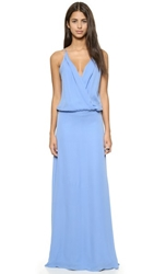 Mason By Michelle Mason Cami Wrap Gown Cornflower