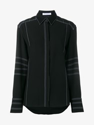 J.W.Anderson Shirt With Contrasting Stitching Black White