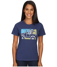Life Is Good Go Places 4X4 Crusher Tee Darkest Blue Women's T Shirt