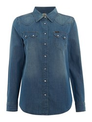 Lee Regular Western Denim Shirt Denim Mid Wash
