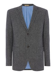 Howick Men's Brooks Basket Weave Blazer Charcoal