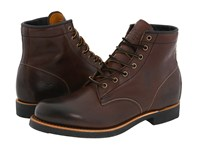 Frye Arkansas Mid Lace Dark Brown Full Grain Leather Men's Lace Up Boots