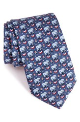 Vineyard Vines Men's 'Elephants' Print Silk Tie