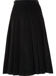 Gabriela Hearst High Waisted Pleated Skirt Blue