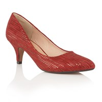 Lotus Dandelion Pointed Toe Courts Red
