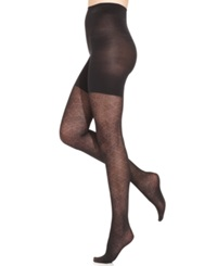 Star Power By Spanx Center Stage Noveau Patterned Shaping Tights Black Noveau