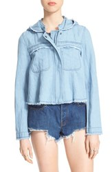 Women's Free People Raw Edge Cotton And Hemp Denim Jacket