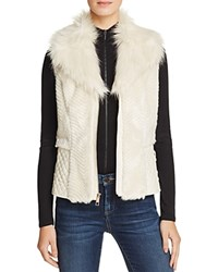 Guess Gabby Faux Fur Vest Milk