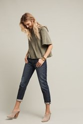 Anthropologie Levi's 501 Ct High Rise Straight Jeans Tinted Denim