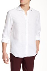 Kent And Curwen Tailored Fit Linen Shirt White