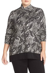 Plus Size Women's Nic Zoe Moonrise Turtleneck Top