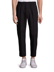 Alexander Wang Cropped Pin Tuck Tailored Trousers Black