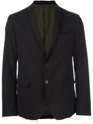 Msgm Frayed Blazer Black