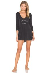 Wildfox Couture I Want It All Sleep Shirt Charcoal