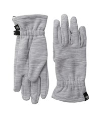Mountain Hardwear Snowpass Fleece Glove Heather Steam Extreme Cold Weather Gloves Gray