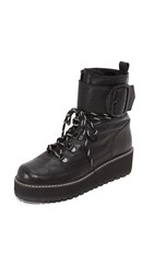 Stuart Weitzman Attack It Combat Boots Nero