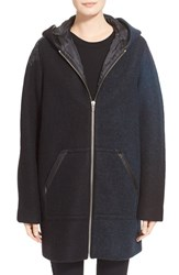 Women's T By Alexander Wang Hooded Wool Blend Jacket