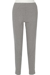 3.1 Phillip Lim Two Tone Cotton Tapered Pants Gray