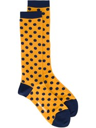 Henrik Vibskov 'Twix Femme' Socks Yellow And Orange