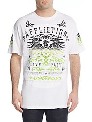 Affliction Secure Measure Graphic Tee White