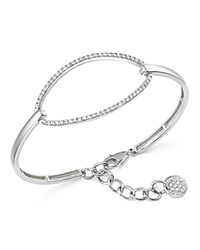Kc Designs Diamond Oval Bangle Bracelet In 14K White Gold