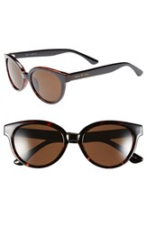 Women's Isaac Mizrahi New York 52Mm Retro Sunglasses Tortoise Black