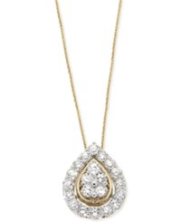 Wrapped In Love Diamond Teardrop Pendant Necklace 1 Ct. T.W. In 14K Gold Yellow Gold