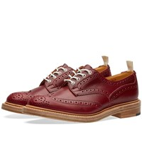Trickers End. X Tricker's Club Sole Bourton Brogue Red