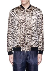 3.1 Phillip Lim Reversible Leopard Print Satin Souvenir Jacket Animal Print Multi Colour