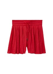 Mango Flowy Shorts Red