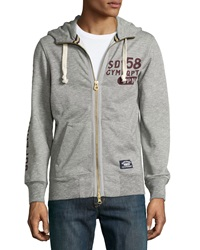 Superdry Pommel Zip Front Hooded Sweatshirt Vault Gray