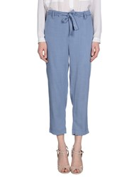 Raquel Allegra Trousers 3 4 Length Trousers Women Pastel Blue