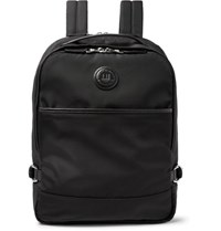 Dunhill Guardsman Leather Trimmed Nylon Backpack Black