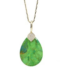 Elizabeth Showers Eliza Green Turquoise Pendant Necklace