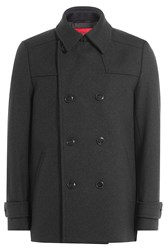 Hugo Wool Pea Coat Gr. L