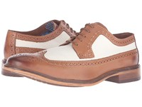 Ben Sherman Marc Linen Men's Lace Up Wing Tip Shoes Beige