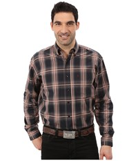 Stetson Iron Ombre Plaid Grey Men's Clothing Gray